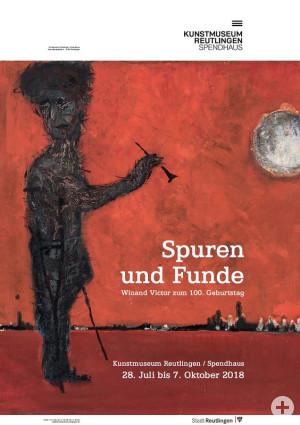 Ausstellungsplakat - Winand Victor Spuren und Funde