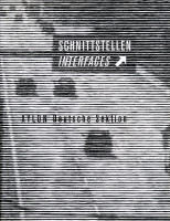 Katalogeinband Schnittstellen Interfaces - XYLON Deutsche Sektion