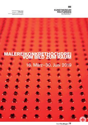 """Plakat zur Ausstellung """"malereikonkrethochdrei"""""""